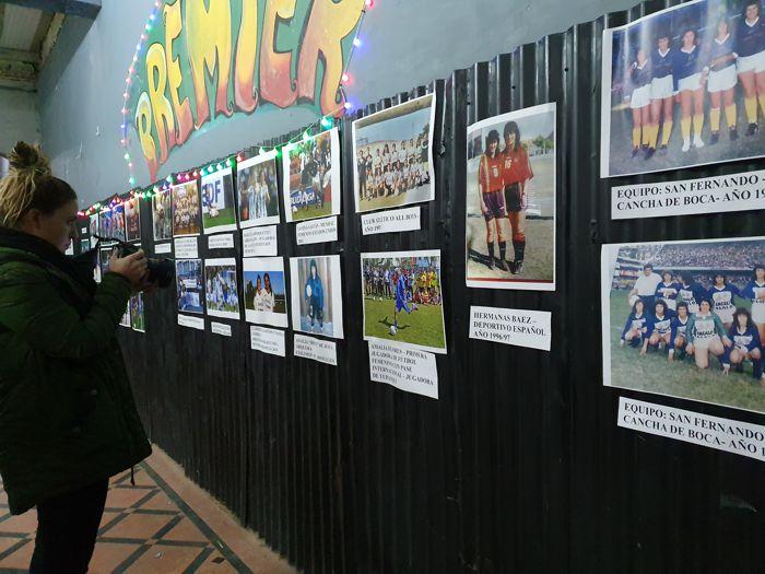 Galería de fotos con la historia del Fútbol Femenino en el Club Premier