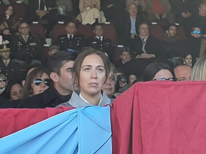 En primera fila, la gobernadora de la Pcia de Buenos Aires, María Eugenia Vidal.