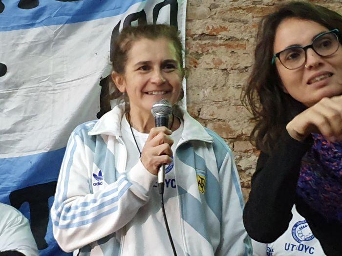 """Luciana Sandoval, presidenta de """"Las Pioneras""""."""