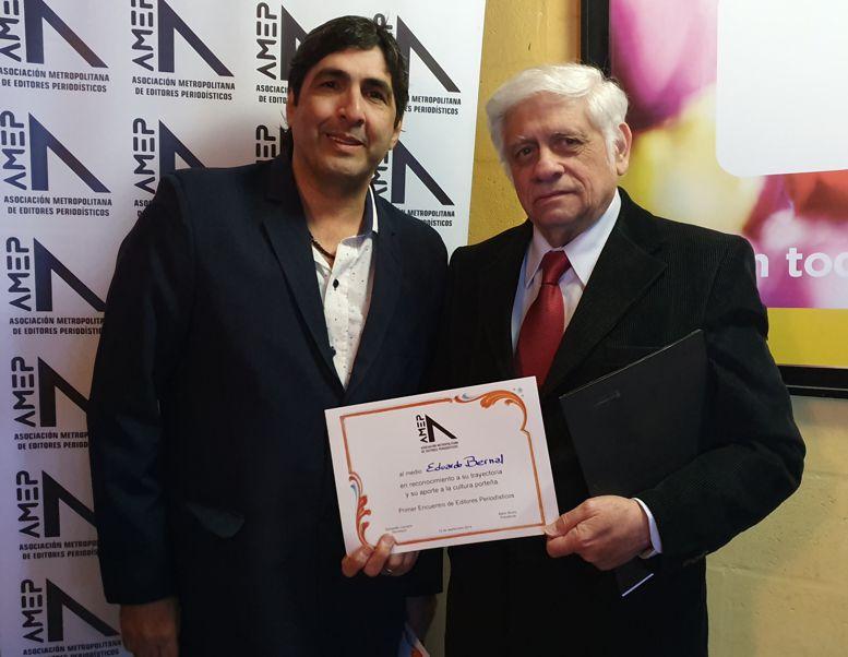 Mario Bruno, presdente de AMEP junto a Eduardo Bernal.
