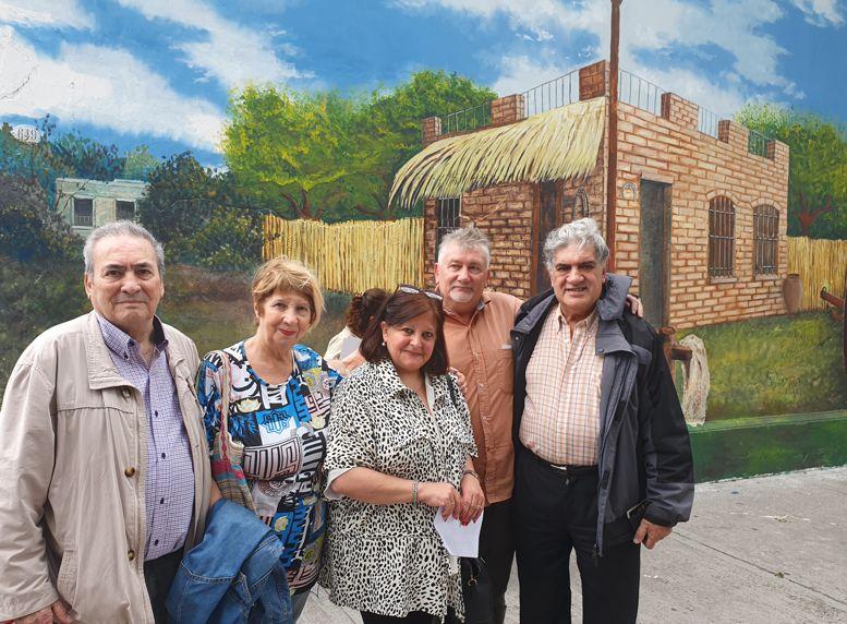 Integrantes de la Red de Cultura, Arnaldo Goenaga, Angélica Rodiño, Marina Bussio, Darío Klehr y Felipe Evangelista.