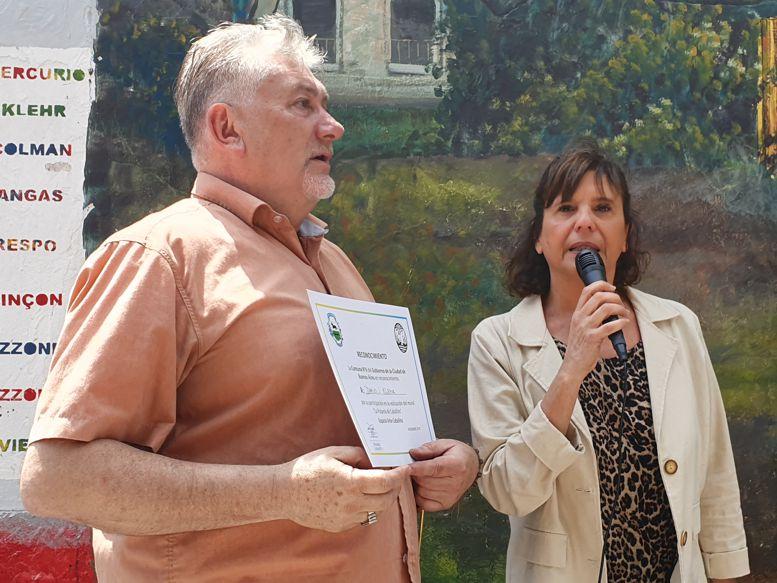 Darío Klehr y Alejandra López Ferre  a cargo del Programa Compromiso Barrial.