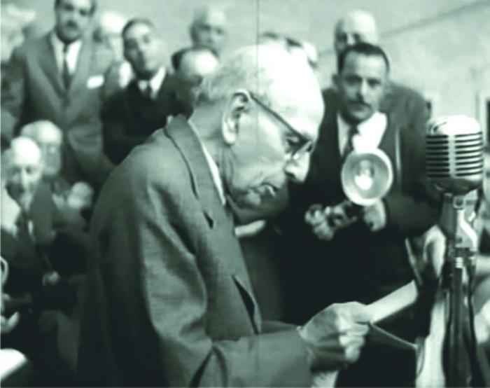 Dr. Nicolás Repetto durante su discurso de inauguración.