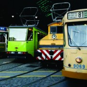 La histórica flota colección de la Asociación Amigos del Tranvía y Biblioteca Popular Federico Lacroze cuenta con al menos 8 formaciones y 7 proyectos de restauración en marcha (AATyBPFL)