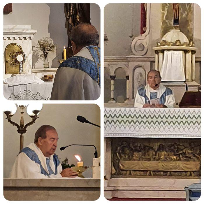 La misa fue celebrada por el Padre Raúl Perrupato.
