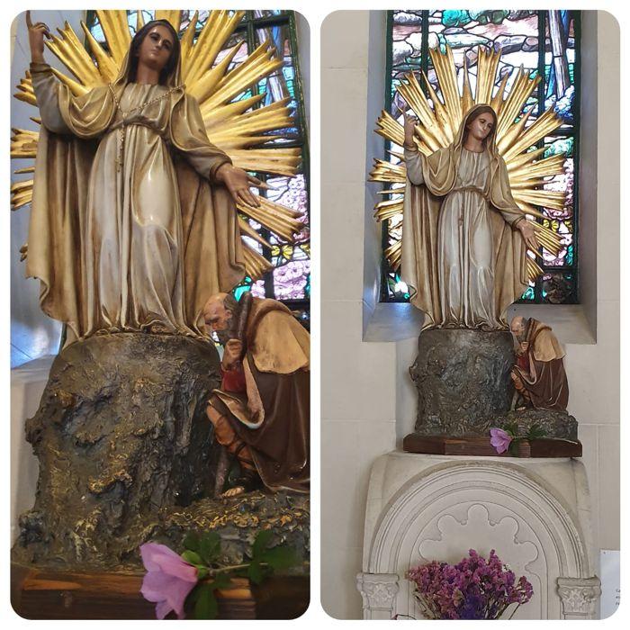 Al finalizar la celebración se colocó un ramo de flores junto a la Patrona de Caballito, Nuestra Señora de la Misericordia.