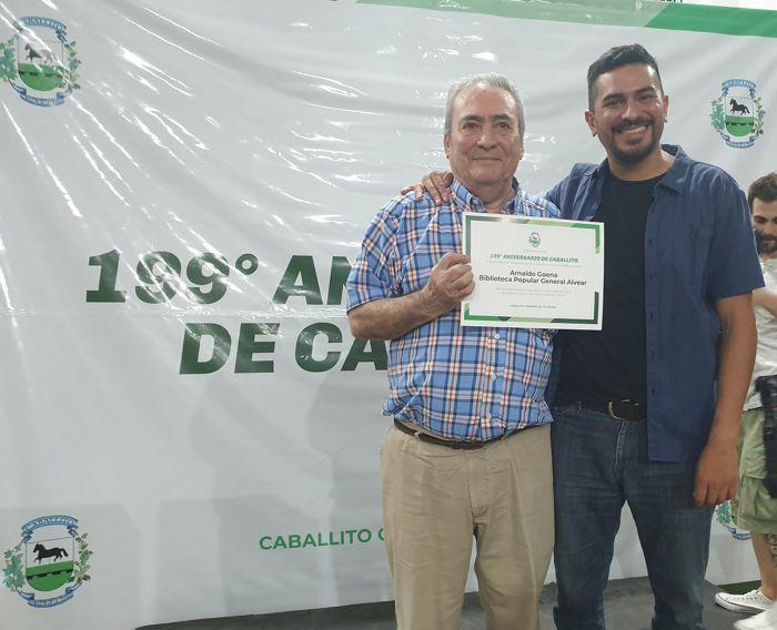 Arnaldo Goenaga, director de ABC junto a Osvaldo Balossi.