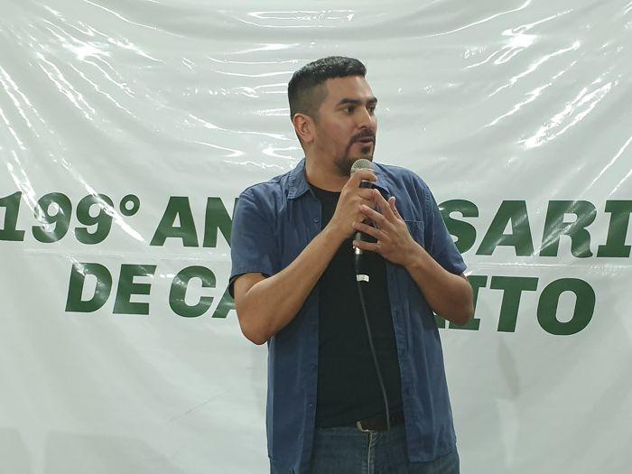 El comunero Osvaldo Balossi invitó a los vecinos a sumarse a trabajar en los festejos  de los 200 años.
