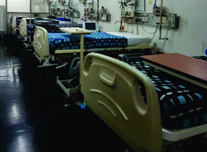 Nuevas camas destinadas a pacientes con coronavirus en el Hspital Naval