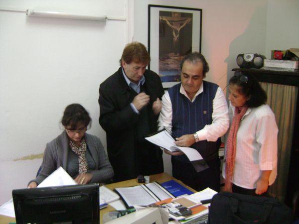 En el Museo de Luján, Darío Klehr, Marcelo Iambrich y Marina Bussio