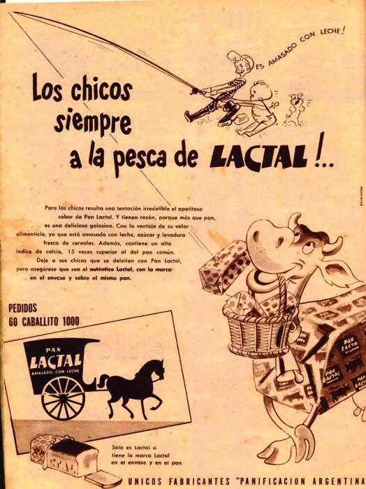 Publicidad del Pan Lactal, su producto más famoso.