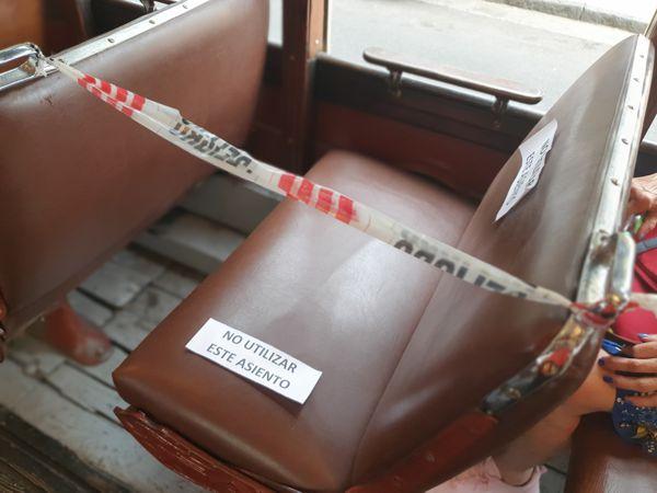 Hubo asientos anulados para mantener el distanciamiento.