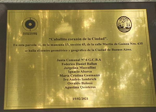 Placa que indica el Centro de la Ciudad.