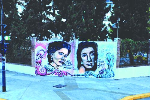 Se hizo entonces un nuevo mural con las figuras de Nini Marshall y Martha Lynch.
